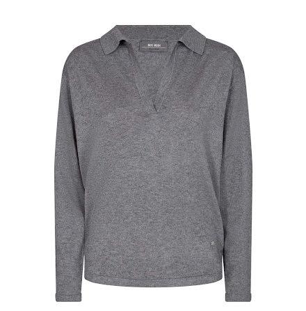 Mos Mosh Wylie knit grey melange