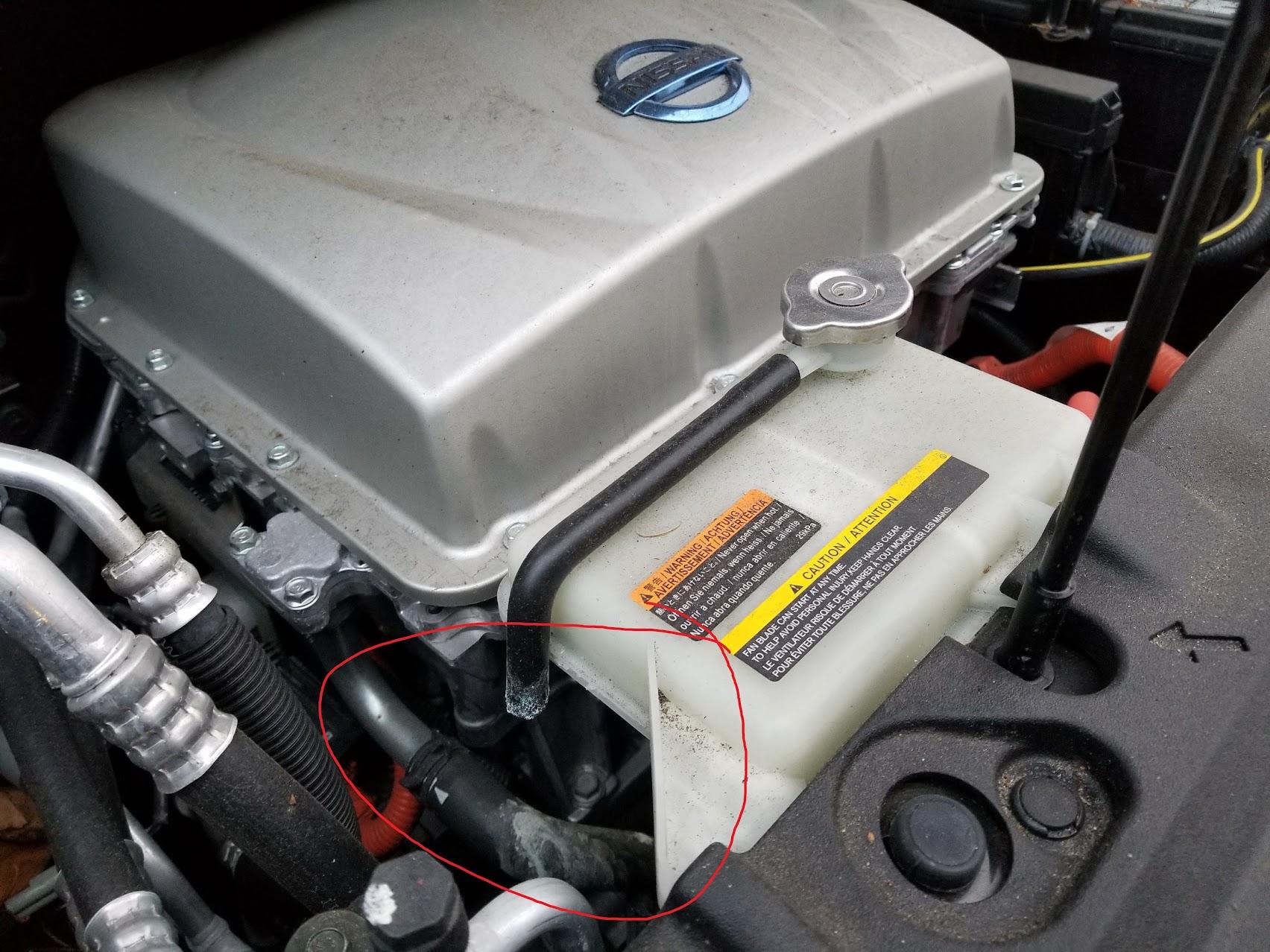Open hose under the hood, looks like leaking beneath - My ...
