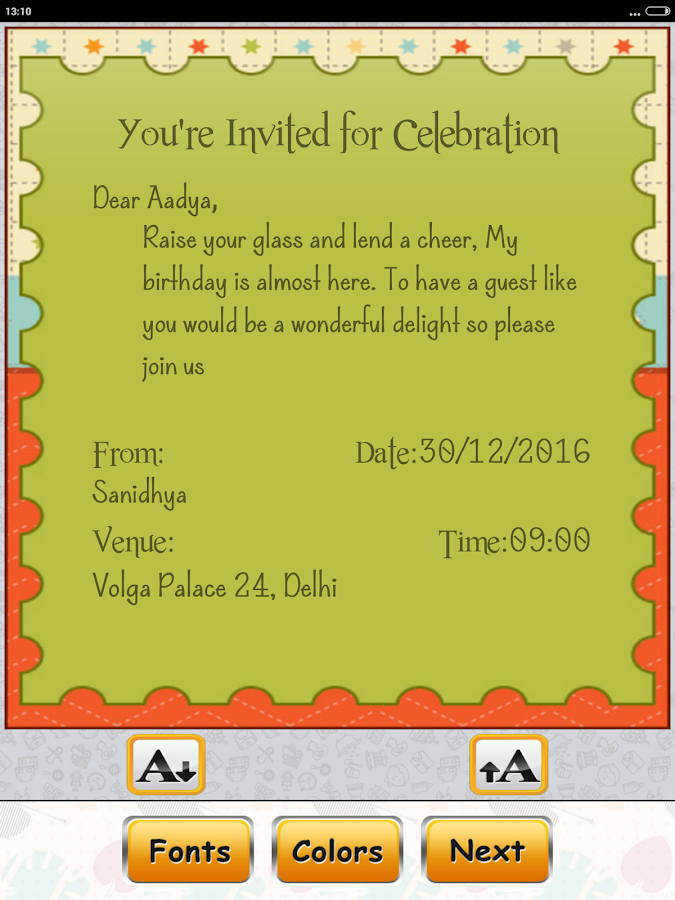 making my own invitations for free