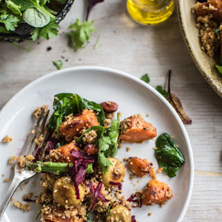 TURMERIC MUSHROOM SALAD WITH BEETROOT AND SWEET POTATO