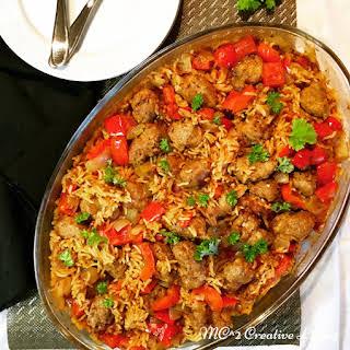 Spicy Italian Sausage Casserole.