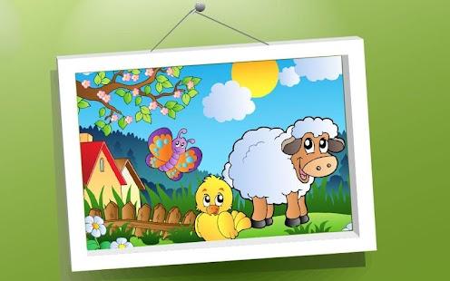Děti puzzle: Cartoon Zvířata - náhled
