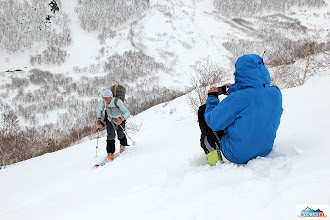 Photo: Pazout is taking video during the second access to sopka Palec