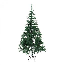 Brad artificial verde 180 cm, include suport metalic