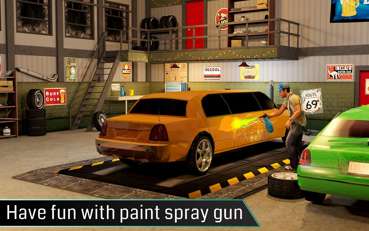 limousine car mechanic 3d sim screenshot