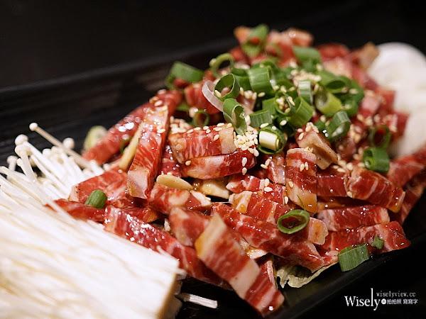 三角三韓國道地烤肉延吉店:鑄鐵鍋蓋韓式烤肉,專人服務料理