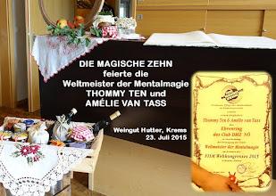 Photo: ALADIN-Bericht von Hanno Rhomberg: http://www.mra.at/wordpress/feier-fuer-thommy-ten-und-amelie-van-tass-in-krems/