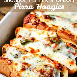 Sausage, Pepper & Onion Pizza Hoagies