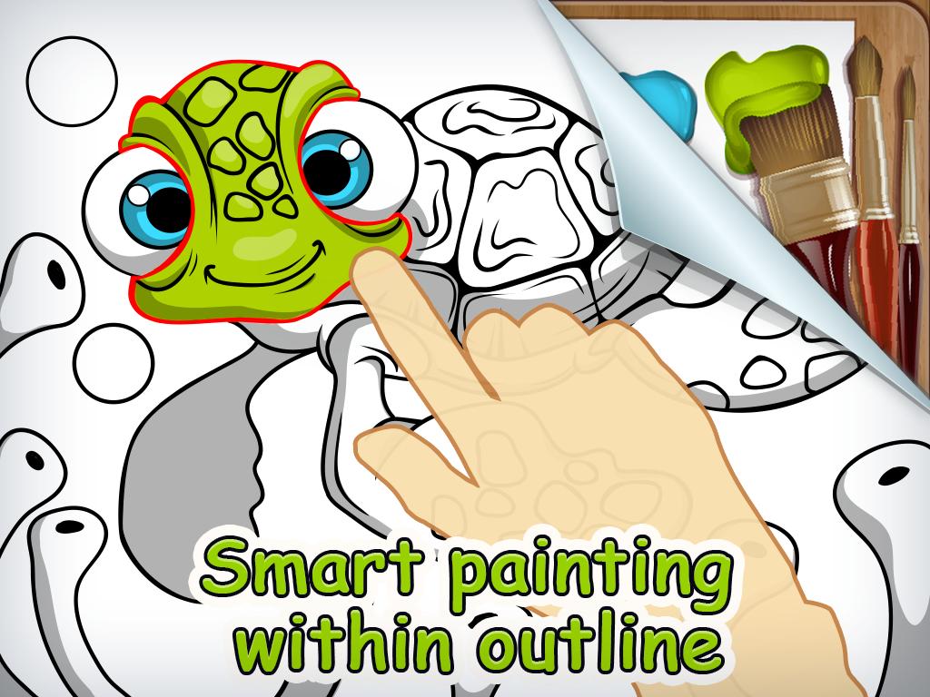The coloring book full album - Brush Smudge Coloring Book Screenshot