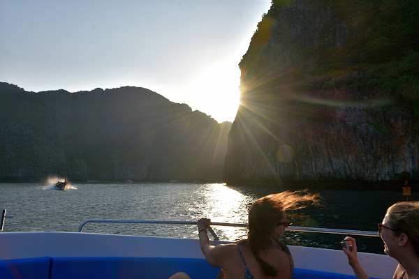 Enter Maya Bay by boat and glimpse a bit of 'The Beach'