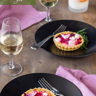 Beetroot and Goats Cheese Tarts.