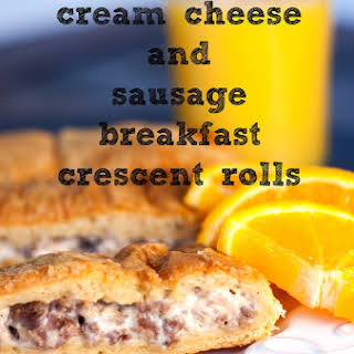 Cream Cheese and Sausage Breakfast Crescent Rolls.