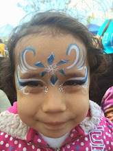 Photo: Holiday face painting by Maria, Orange, Ca 888-750-7024 http://www.memorableevententertainment.com/FacePainting/MariaChino,Ca.aspx