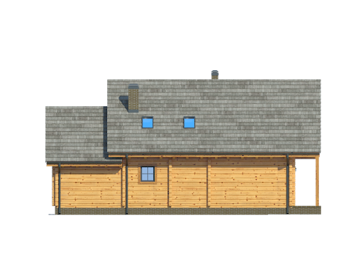 Osiek z garażem dw3 - Elewacja tylna