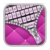 Diamond Zip Pink Keyboard