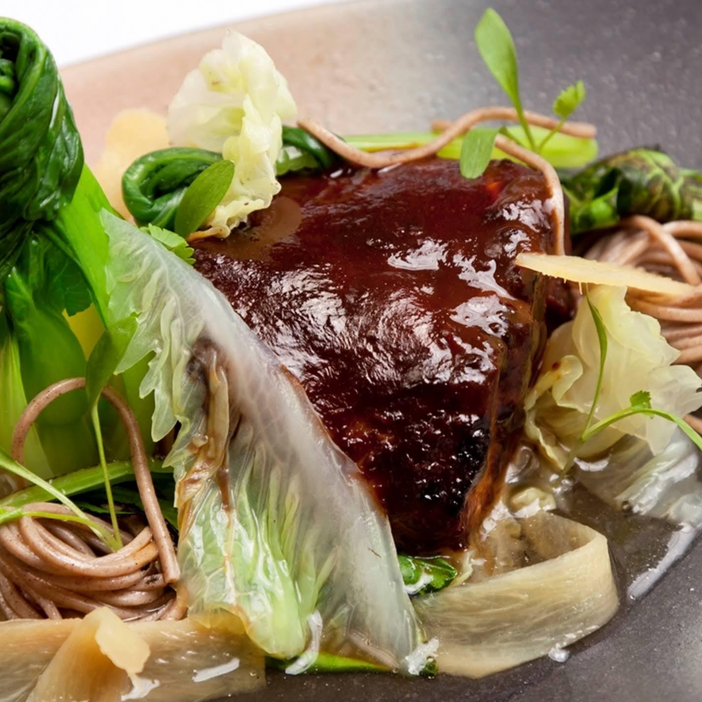 Miso-Marinated Black Cod, Soba Noodles and Green Tea Broth