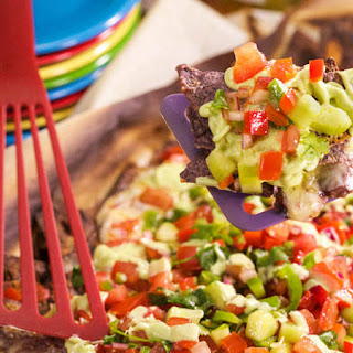 Black Jack Nachos with Gazpacho Salsa