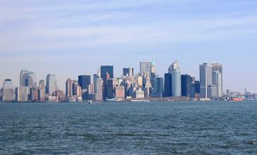 Photo: New Yorkin siluettia keväällä 2004 ilman WTCiä