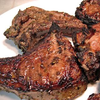 Grilled Glazed Lamb Chops.