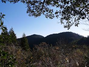 右後ろに観音山(左)