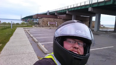 Photo: #motoselfie (is that a hashtag?) It felt good to get that bridge out of the way.