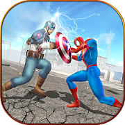 Super Spider Hero vs Captain USA Superhero Revenge