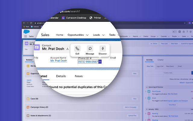 Cytracom Chrome Extension