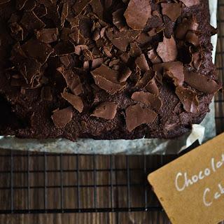 Healthy Vegan Chocolate Cake.