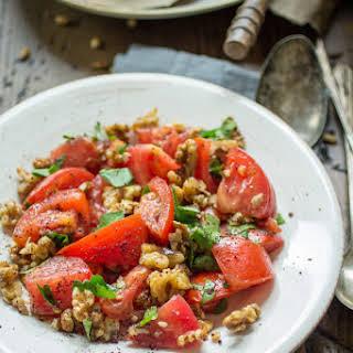 10 Minute Tomato and Walnut Salad.