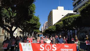 Movilización en el Paseo junto a la Delegación de Gobierno de la Junta de Andalucía