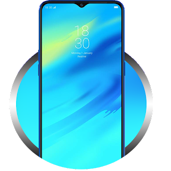 Download Theme for Oppo Realme 2 blue real wallpaper on PC