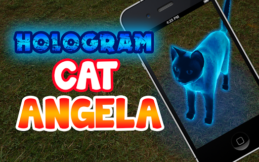 Hologram Cat Angela 3D