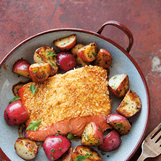 Mustard-Crusted Salmon with Red Potatoes