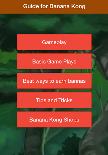 Guide Banana Kong