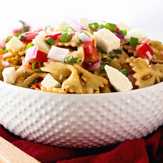 Bruschetta Caprese Pasta Salad