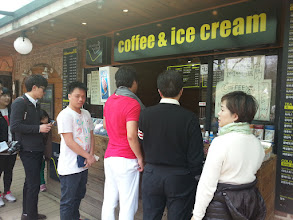 Photo: Jomar buying ice cream to beat the heat from the Rameon.