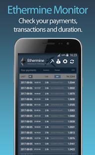Ethermine Pool Stats Monitor - náhled