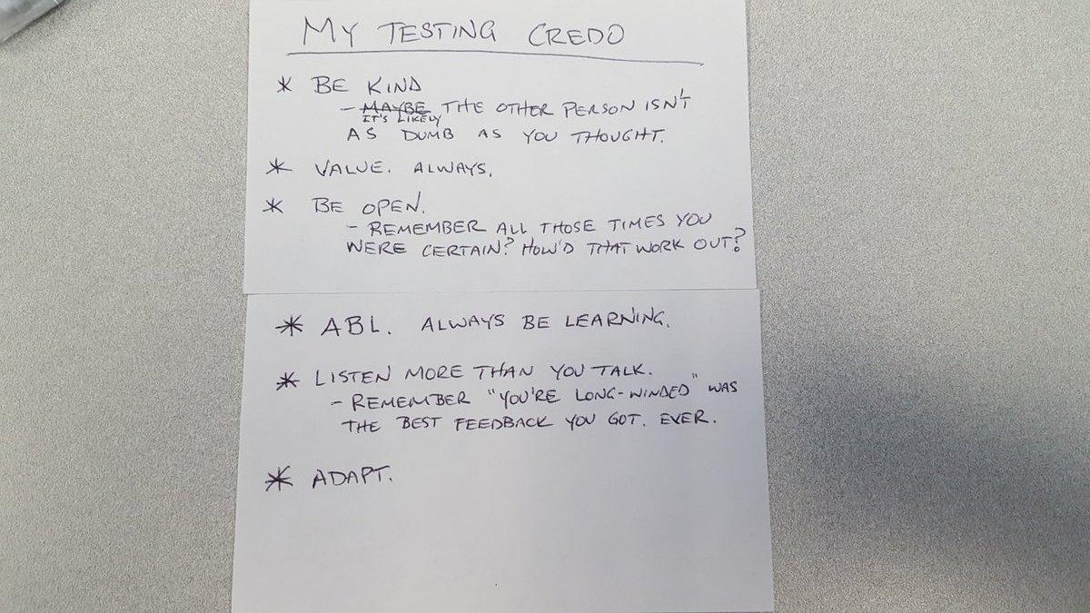 Jim's Testing Credo