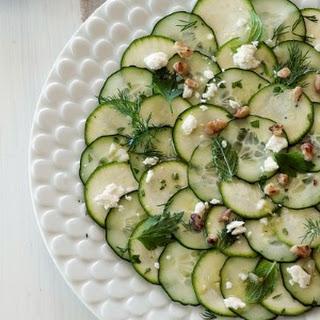 Cucumber & Zucchini Carpaccio