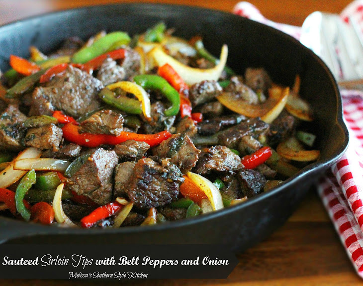 Sauteed Sirloin Tips with Bell Peppers and Onion Recipe
