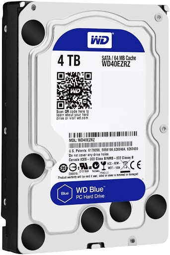 ổ cứng HDD WD Blue 4TB SATA3 5400rpm (WD40EZRZ)