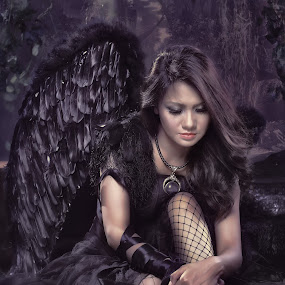 Fallen Angel by Amir  Rodof - People Portraits of Women ( photoshop art, fashion, fallen angel, dark angel, people )