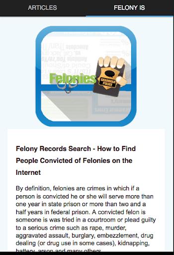 Felony resume help