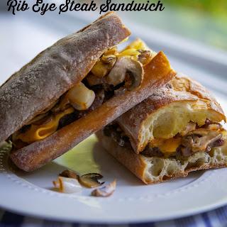 Rib Eye Steak Sandwich.