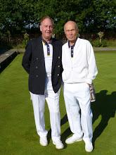 Photo: A couple of very successful Captains. John Lan- Men's Vice-Captain with Brian Perryman- Men's Captain.
