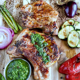 Peppercorn Garlic Pork Chops.