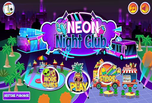 My Pretend Neon Night Club - Kids Dance Games FREE 1.8 screenshots 1