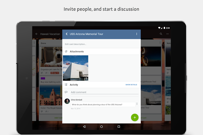 Screenshot 8 for Trello's Android app'