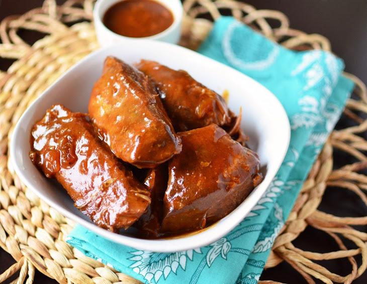 Slow Cooker Boneless BBQ Pork Ribs Recipe
