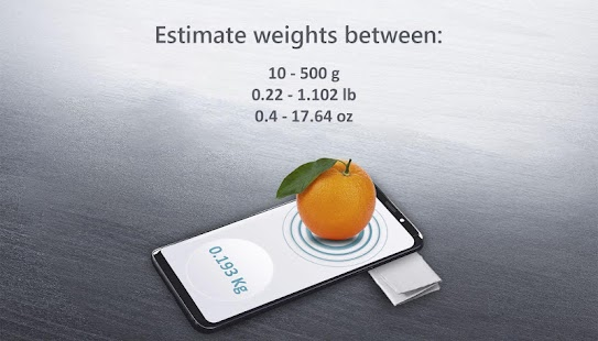 Weight Scale Estimator Screenshot